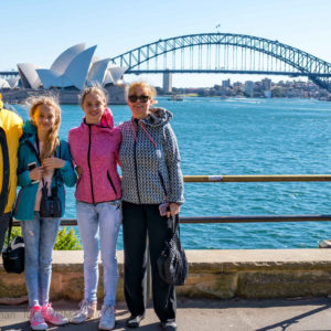 Sydney Harbour Bridge and Opera House with Family