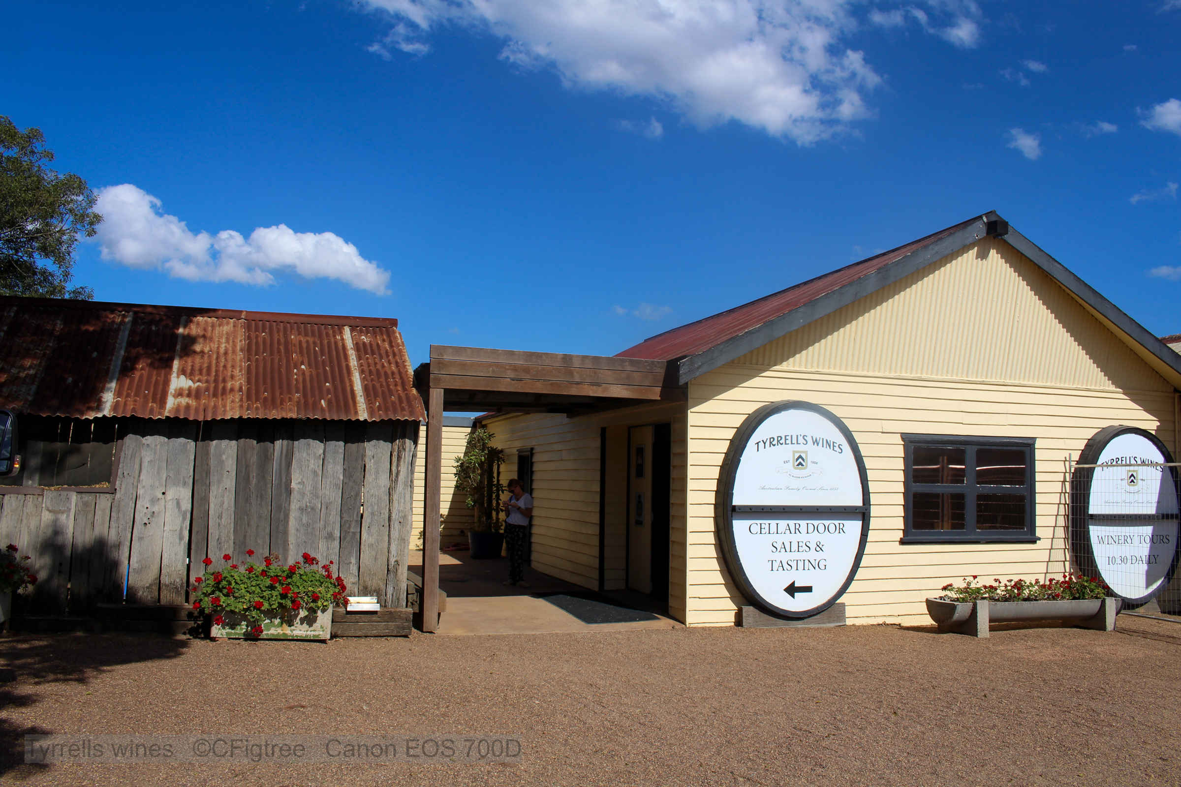 Image of Tyrells Cellar door entrance on our Hunter Valley Private Tour.