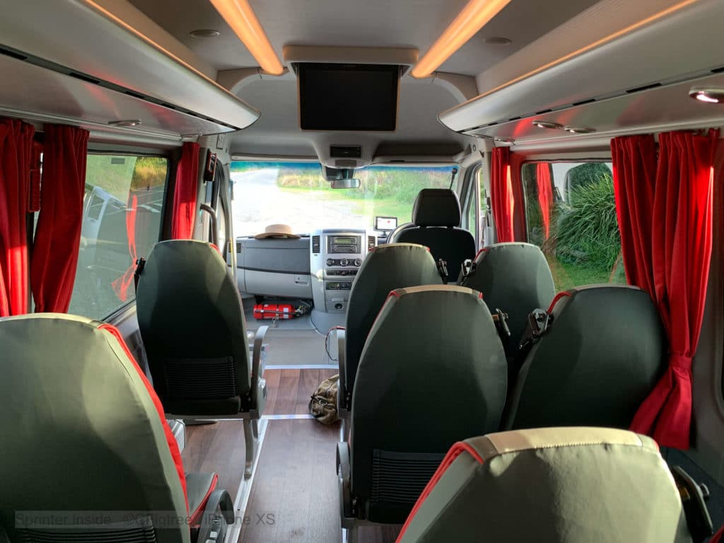 Our mini bus / coach interior