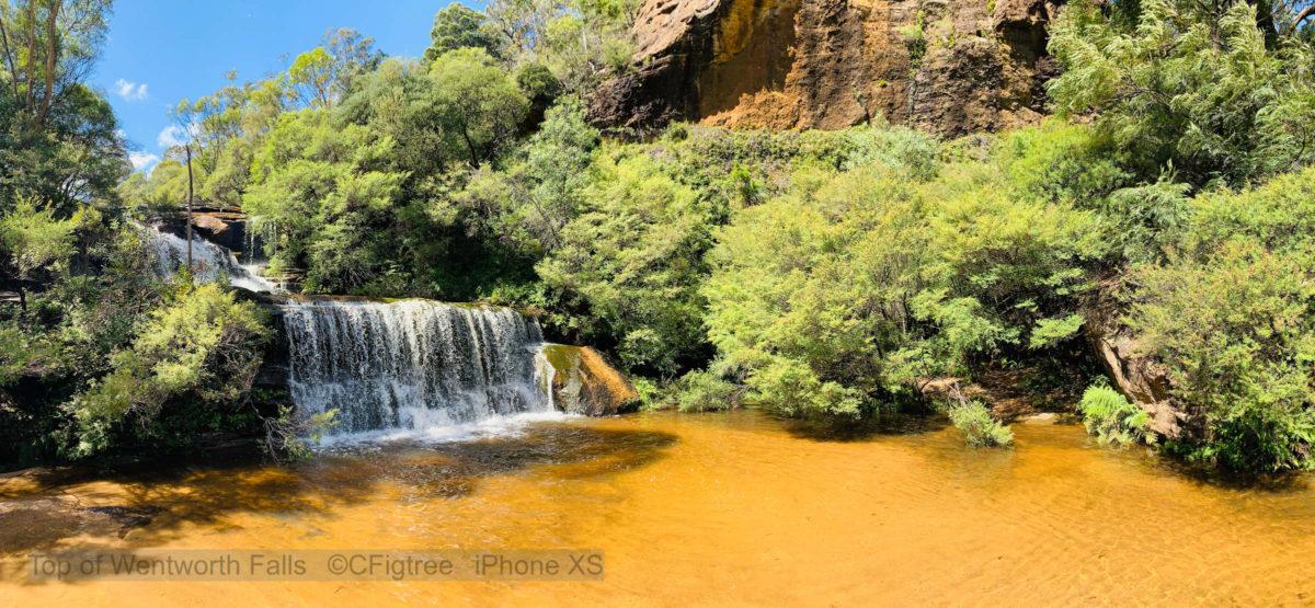 Top waterfall at Wentworth Falls